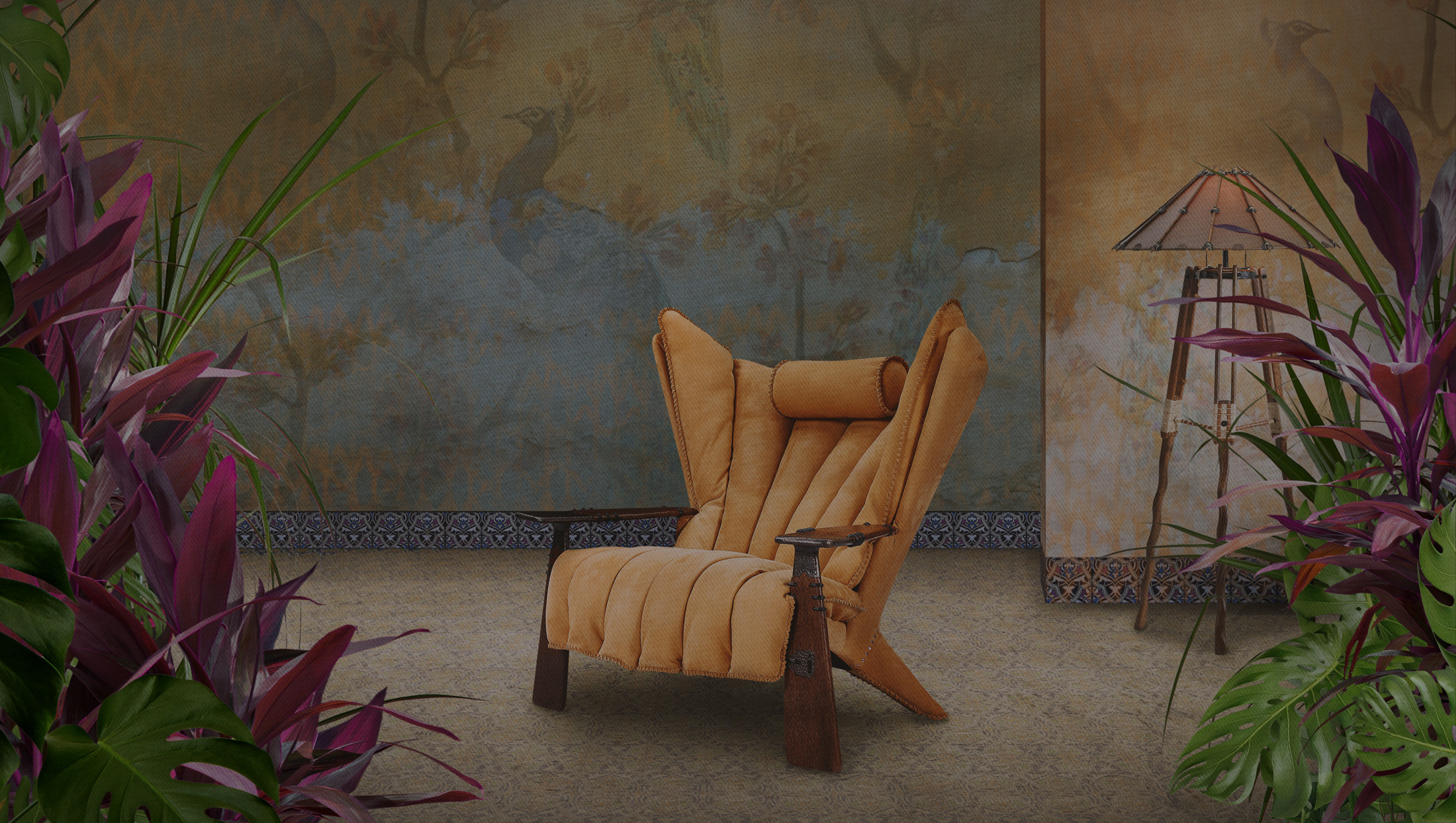 Home Pacific Green Furniture Exotic Palmwood